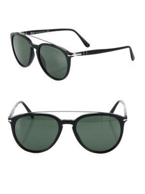 Persol Striped 55mm Pilot Sunglasses