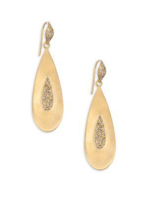 Bavna 18k Gold Teardrop Earrings
