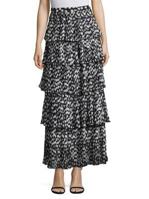 Delfi Collective Demi Pleated Polka Dot Skirt