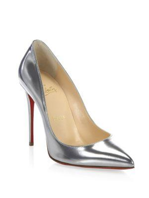 Christian Louboutin Pigalle Follies Point Toe Leather Pumps