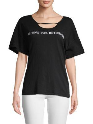 Wildfox Waiting For Retirement T-shirt