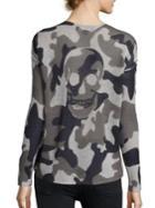 360 Cashmere Ara Camo Skull Cashmere Sweater