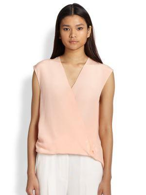 3.1 Phillip Lim Silk Draped Crossover Blouse