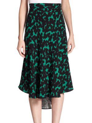 A.l.c. Corso Printed Silk Midi Skirt
