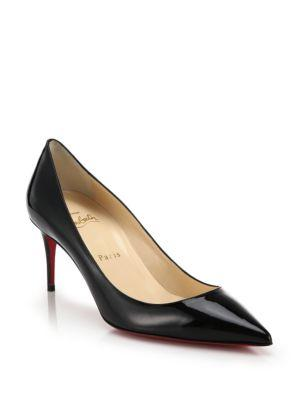 Christian Louboutin Point-toe Patent Leather Pumps