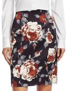 Theory Floral-print Skirt