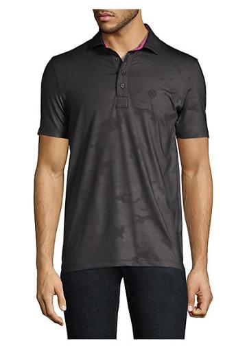 G/fore Camo Embossed Polo