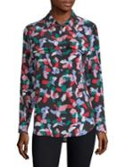 Equipment Silk Floral-print Blouse