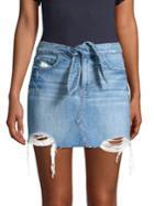 Paige Distressed Denim Skirt