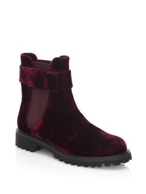 Joie Hollie Velvet Chelsea Boots