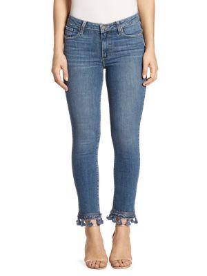 Paige Jacqueline Tassel-trimmed Jeans