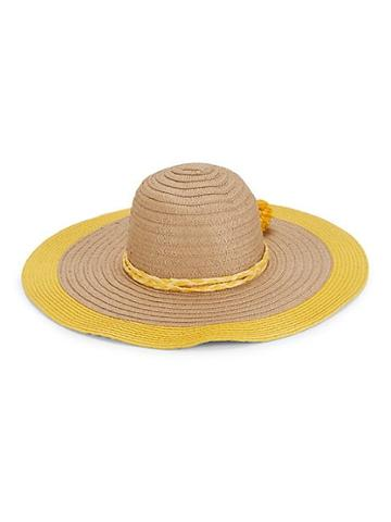 Ava & Aiden Colorblock Pom-pom Floppy Hat