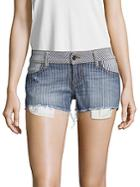Siwy Striped Frayed Shorts
