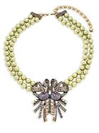 Heidi Daus Faux-pearl Beaded Bow Necklace