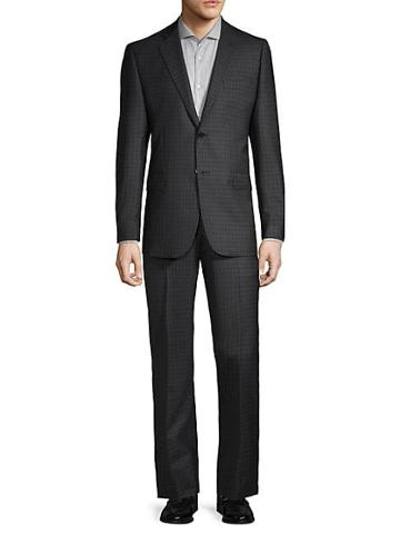 Saks Fifth Avenue Made In Italy Checked Wool Suit