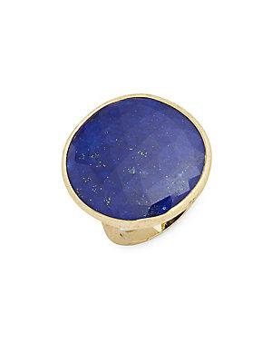 Marco Bicego Blue Aventurine & 18k Gold Unico Solitaire Ring