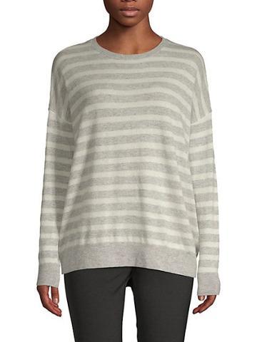 Saks Fifth Avenue Black Striped Long-sleeve Sweater