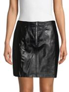 Sandro Ray Leather Mini Skirt