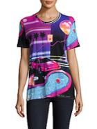 Sandro Talamanca Printed Cotton Top