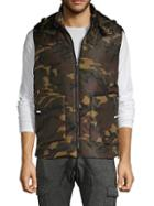 American Stitch Camouflage Zip-front Hooded Vest