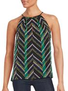 1.state Patterned Sleeveless Top