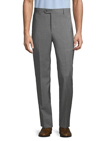 Saks Fifth Avenue Textured Wool Blend Pants