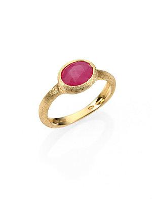 Marco Bicego Siviglia Pink Sapphire & 18k Yellow Gold Cocktail Ring