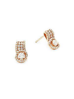 Le Vian Diamond & 14k Rose Gold Earrings