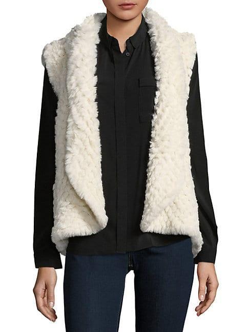 Love Token Ali Faux Fur Cropped Vest