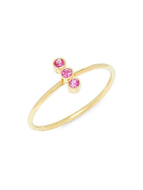 Amrapali 18k Yellow Gold & Ruby Ring
