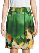 Akris Floral Pencil Skirt
