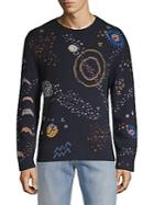 Valentino Embroidered Roundneck Sweater