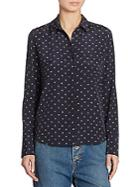 Vince Dotted Silk Shirt