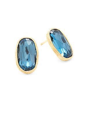 Marco Bicego Murano Blue Topaz & 18k Yellow Gold Earrings