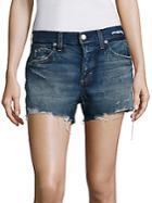 Amo Tomboy Distressed Denim Shorts