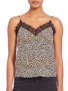 The Kooples Leopard Lace Top