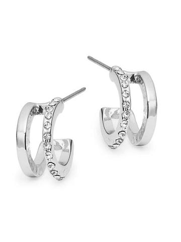 Ava & Aiden Double Pave Huggie Hoop Earrings