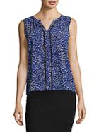 Calvin Klein Printed Piped Top
