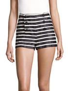 Redvalentino Buttoned Cotton Shorts