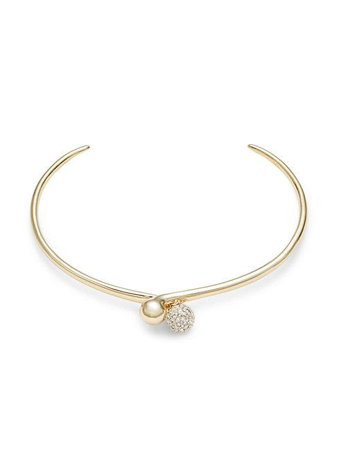 Alexis Bittar 10k Goldplated & Crystal Choker Necklace