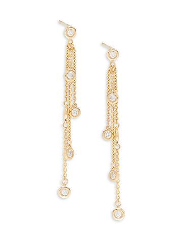 Diana M Jewels 14k Yellow Gold & Diamond Linear Drop Earrings