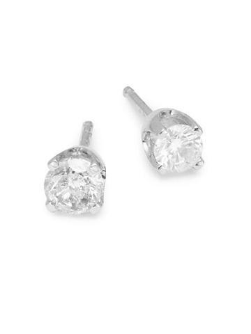 Diana M Jewels 14k White Gold Diamond Stud Earrings