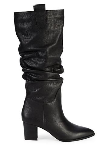 Saks Fifth Avenue Julia Leather Slouch Tall Boots