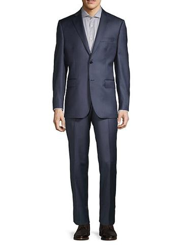 Saks Fifth Avenue Made In Italy Pindot Wool Suit