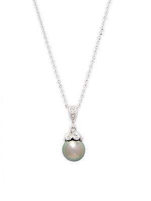 Tara Pearls Pearl & Diamond Pendant Necklace