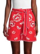 Mochi Embroidered Floral Shorts
