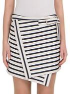 Carven Striped Wrap Skirt