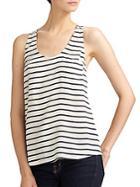 Joie Striped Silk Tank