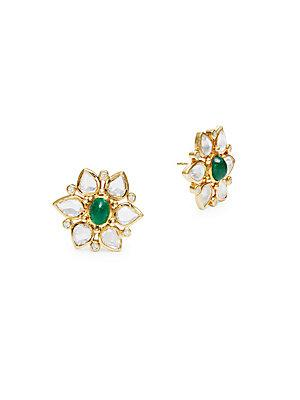Temple St. Clair 18k Yellow Gold Ottoman Stud Earrings