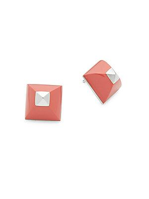 Herm S Vintage Pink/silver Cupidon Earrings